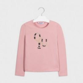Tričko pro dívky s dlouhým rukávem Mayoral 830-67 růžové