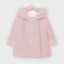 Plátěný kabát pro dívky Mayoral 2409-75 růžový