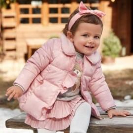 Bunda s límečkem pro dívky Mayoral 2410-53 Růžový