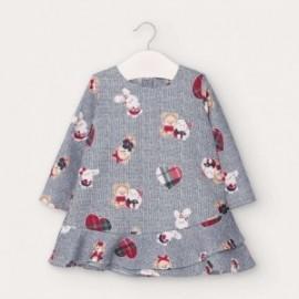 Dívčí každodenní šaty Mayoral 2963-28 granát