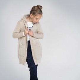 Dlouhý svetr pro dívky Mayoral 7334-76 Béžová