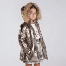 Metalizovaná dívčí bunda Mayoral 7416-86 Staré zlato