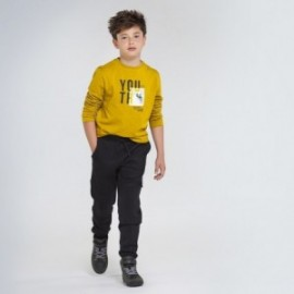 Pletené kalhoty pro chlapce Mayoral 7525-41 Černá
