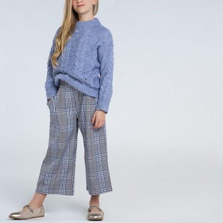 Kontrolované kalhotové kalhoty pro dívky Mayoral 7542-44 granát