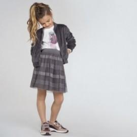 Dívčí tylová sukně Mayoral 7944-33 stříbrná