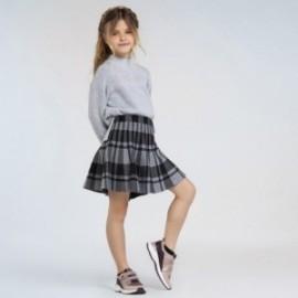Dívčí kostkovaná sukně Mayoral 7945-6 Šedá