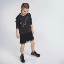 Sportovní šaty s tylem pro dívky Mayoral 7965-26 černá