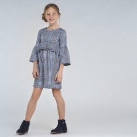 Dívčí kostkované šaty Mayoral 7973-44 námořnická modrá