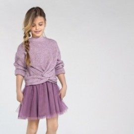 Kombinované dívčí šaty Mayoral 7974-11 fialový