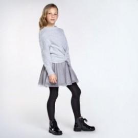 Kombinované dívčí šaty Mayoral 7974-10 Šedá