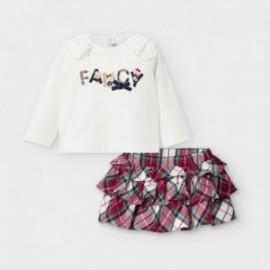 Sada se sukní pro dívky Mayoral 2973-2 krémová / červená