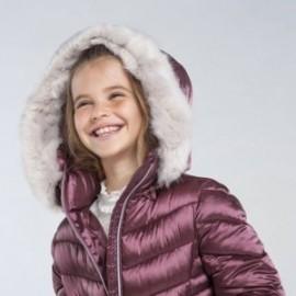 Dívčí dlouhá bunda Mayoral 7415-91 fialová