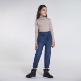 Slouchy džíny pro dívky Mayoral 7538-5 granát