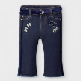 Dívčí džíny s pásem Mayoral 2590-79 námořnická modrá