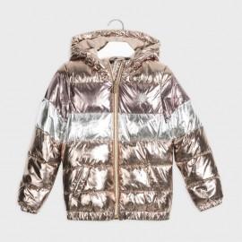 Kovová bunda holčičí Mayoral 7418-58 staré zlato