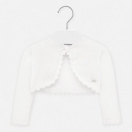 Pletený svetr pro dívky Mayoral 306-85 bílý
