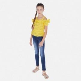 Dívčí džínové kalhoty Mayoral 554-84 námořnická modrá