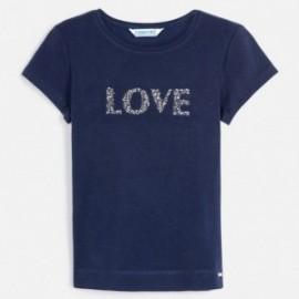 Dívčí tričko s krátkým rukávem Mayoral 854-96 námořnická modrá