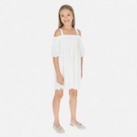 Šaty s popruhy holčičí Mayoral 6980-93 krém