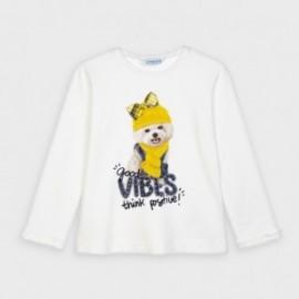 Dívčí tričko s dlouhým rukávem Mayoral 4064-82 Žluté
