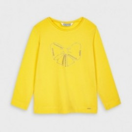 Dívčí tričko s dlouhým rukávem Mayoral 178-81 žluté