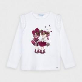 Tričko s dlouhým rukávem pro dívky Mayoral 4062-80 Bordó