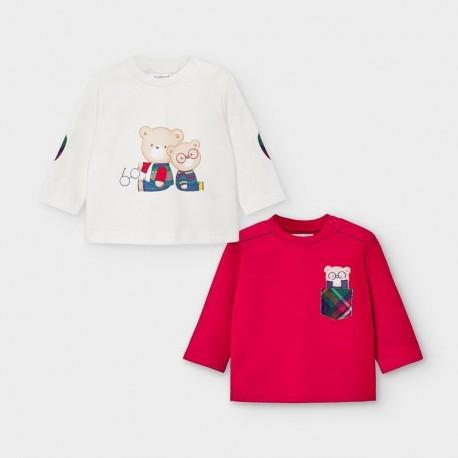 Sada 2 triček pro chlapce Mayoral 2034-81 bílá / červená