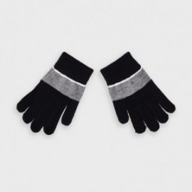 Tříbarevné rukavice pro chlapce Mayoral 10884-35 černé