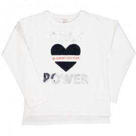 Tričko s dlouhým rukávem pro dívky Trybeyond 94364-10E bílé