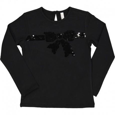 Dívčí tričko s dlouhým rukávem Trybeyond 94420-10A černé