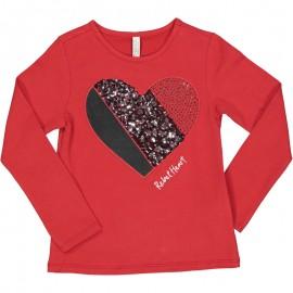 Dívčí tričko s dlouhým rukávem Trybeyond 94437-56W červená
