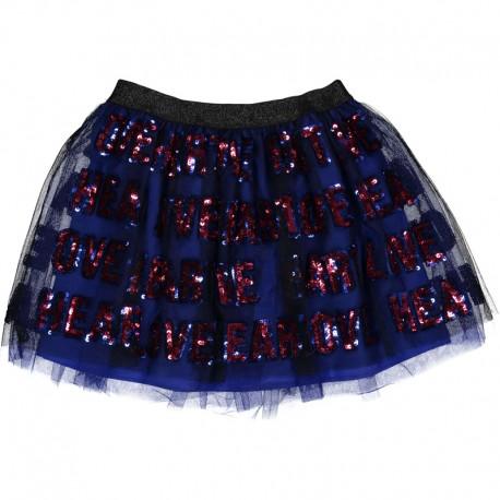 Dívčí sukně z tylu Trybeyond 95296-90Z námořnická modrá