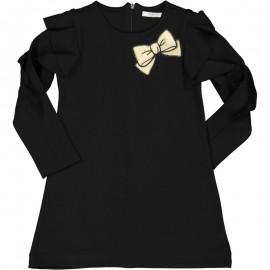 Bavlněné šaty pro dívky Trybeyond 95581-10A černé