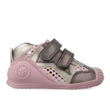 Tenisky pro dívky přechodné boty Biomecanics 201113 fialová