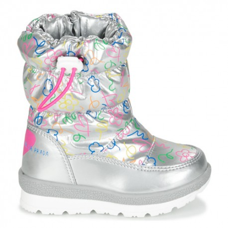 Dívčí sněhové boty Agata Ruiz De La Prada 201996 stříbrné barvy