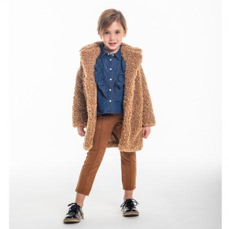 Dívčí zimní bunda s mašličkami Trybeyond 97998-10F béžová