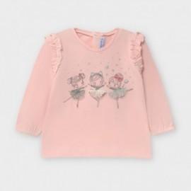 Dívčí tričko s dlouhým rukávem Mayoral 2056-23 Růžové