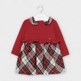 Dívčí kostkované šaty Mayoral 2960-95 červené