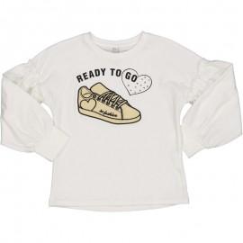 Dívčí tričko Trybeyond 94436-10E krémové