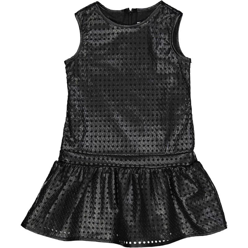 Dívčí šaty z umělé kůže Trybeyond 95584-91E černé