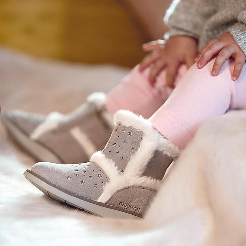 Zimní obuv pro dívku Mayoral 42132-40 šedá