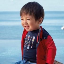Tričko s dlouhým rukávem pro chlapce Mayoral 1055-74 námořnická modrá