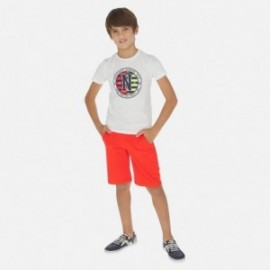Sada trička a bermudy pro chlapce Mayoral 6616-62 Korál