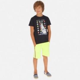 Sada trička a bermudy pro chlapce Mayoral 6615-67 Žlutý neon