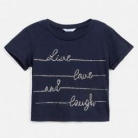 Tričko s krátkým rukávem pro dívky Mayoral 6019-40 námořnická modrá