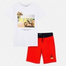 Sada trička a bermudy pro chlapce Mayoral 6612-40 Korál