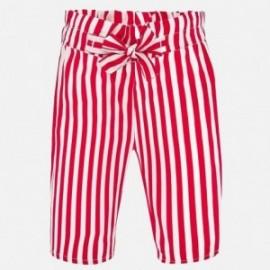 Dívčí kalhoty s pruhy Mayoral 1558-85 červené