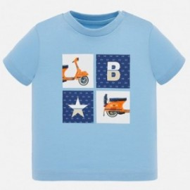 Tričko s krátkým rukávem pro chlapce Mayoral 1052-33 modrá
