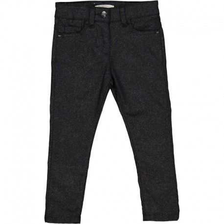 Dívčí kalhoty s leskem Trybeyond 92494-97Z Černá