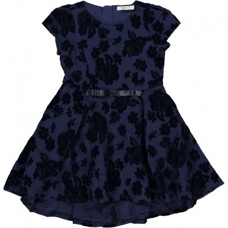 Dívčí květinové šaty Trybeyond 95592-97Z námořnická modrá